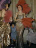 Seamstresses Adjust Performers' Costumes Backstage at Folies Bergere