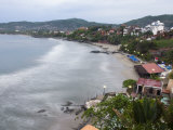 Waves Washing on the Beach in Zihuatanejo Bay Viewed from a Hotel