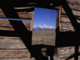 View of the Teton Mountains from an Old Homesteader&#39;s Cabin