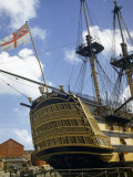 Low Angle View of the Stern of HMS Victory