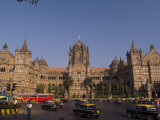 Traffic at the Chhatrapati Shivaji Terminus or Victoria Terminus
