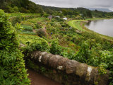 View of Terraced Gardens Overlooking a Scenic Lake