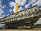 Space Shuttle Atlantis Rolls Out to Launch Pad for an Upcoming Mission