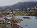 Harbor at Sisimiut  Greenland  Filled with Fishing Boats