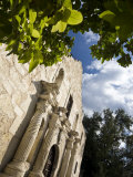 San Antonio  Texas  the Alamo  Side Angle Wide Angle View of Facade