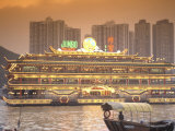 Aberdeen Harbor  Hong Kong Island  with Jumbo Floating Restaurants