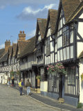 Tudor Rowhouses on Garden Street in Warwick  England
