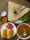 Cheese Masala Dosa with Pav Bhaji