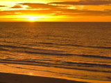 Dawn Rises Golden over Bass Straits Vast and Distant Horizon