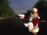 Santa Claus Fly Fishing