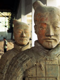 Terra Cotta Soldiers with Facial Pigment Rise from 2 000 Year Grave