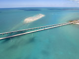 Famous Seven Mile Bridge and Turquoise Waters in the Florida Keys