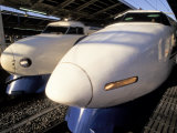 Noses of Two Bullet Trains