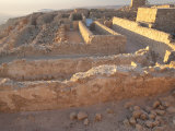 Stone Walls of Masada  a Palace Complex Built by Herod the Great
