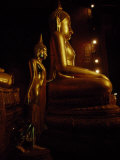 Gilded Statues of Buddha at the Grand Palace Temple Complex  Bangkok