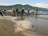 Fishermen Pull in their Catch on My Khe Beach or China Beach