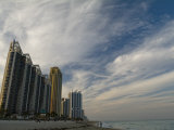 High Rises Along the Coast at Sunny Isles under a Huge Sky