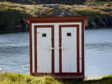 Quaint Outhouse on the Shore of Battle Harbor