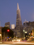 View of the Transamerica Pyramid from Columbus and Broadway