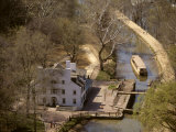 Aerial View of the C&amp;O Canal Towpath and Great Falls Tavern