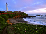 View of Pigeon Point Lighthouse  Off Scenic Route 1 California