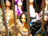 Wigs in Store Front Window in San Francisco