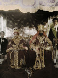 Monarchs Haile Selassie the First and Manen  Pose in their Robes