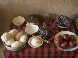 Array of Fruit and Bread