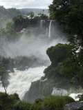Rushing Water and Mists at Iguacu Falls