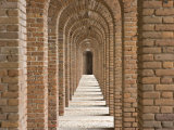 Brick Arches at Fort Jefferson in Dry Tortugas National Park  Florida