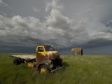 Thunderclouds Menace an Abandoned Homestead in Western North Dakota