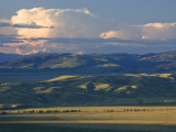 Landscape of National Elk Refuge in Jackson  Wyoming