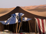 Berber Tent and Sand Dunes in the Northern Sahara Desert
