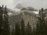 Early Snowfall Dusts Cascade Mountain in Banff National Park