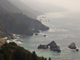Famous View of the Coast Along Route 1 in Big Sur