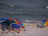 Beach Umbrellas and Toys on the Beach