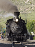 Durango and Silverton Railroad Narrow Gauge Trains Leave the Station