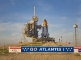 Space Shuttle Atlantis Sitting on Launch Pad 39B Awaiting Lift Off