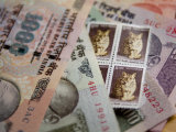 Indian Rupees and Stamps