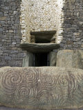 Petrogyphs at the Entrance of Newgrange  a 5000 Year Old Passage Tomb