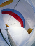 Fisheye View of a Spinnaker on a Sailboat