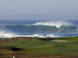 Waves Off Point Joe and Golf Course Green on Seventeen Mile Drive