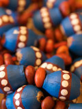 Painted Aboriginal Beads in Central Australia
