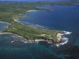 Aerial View of the East End of Vieques Island  Puerto Rico