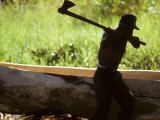 Man Builds a Dugout Canoe Using an Axe