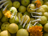 Garland of Flowers on a Pile of Limes