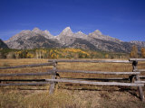 Jagged Mountains and Autumn Landscape at Grand Teton National Park