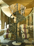 Spiral Staircase and Barrels at a Winery in the Casablanca Valley