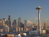 Mount Rainier Behind the Seattle Skyline with the Space Needle