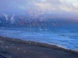 Fireworks over Ocean Beach in San Francisco